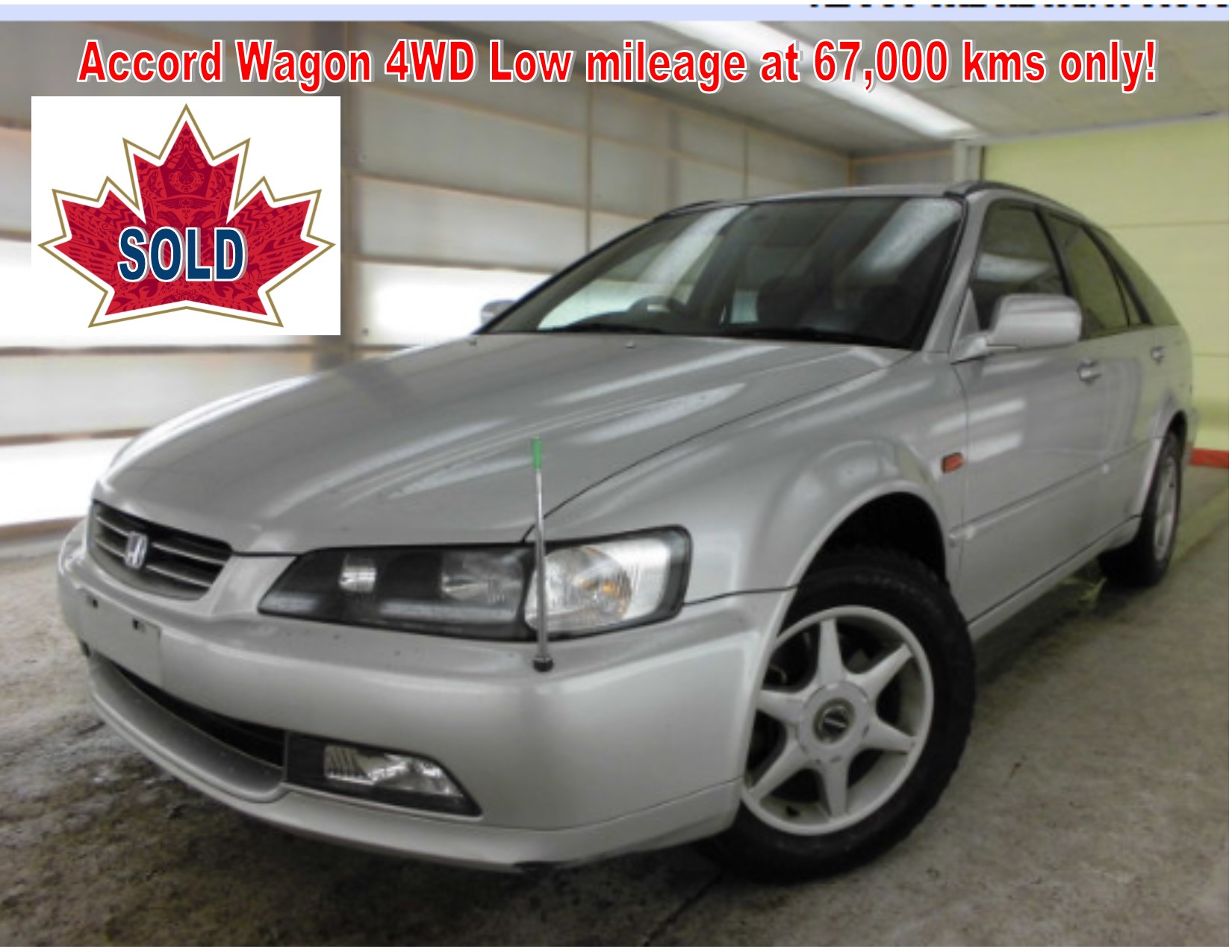 1997 Honda Accord Wagon 4WD 67km
