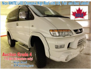 1999 Mitsubishi Delica L400 Gen2 Chamonix SWB High Roof RHD with Lift 119,000 km