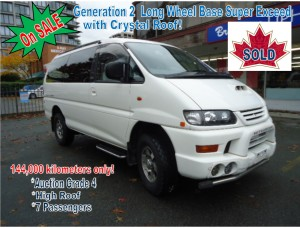 1999 Mitsubishi Delica L400 Gen2 LWB Super Exceed High Roof RHD with Crystal Roof 144,000 km on SALE !
