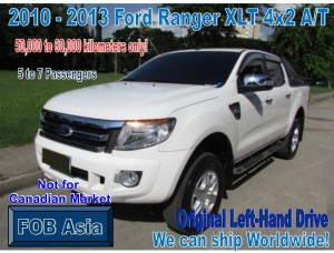 2010-2013 Ford Ranger XLT 4×2 Model A/T 50km-60km
