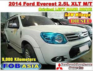 2014 Ford Everest 2.5L XLT M/T LHD 9,000 km