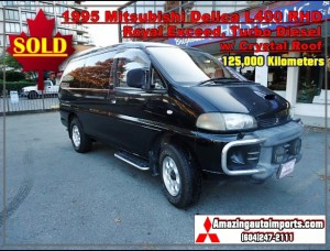 1997 Mitsubishi Delica L400 Royal Exceed Turbo Diesel with Crystal Roof RHD 125,000 km