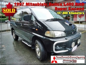 1997 Mitsubishi Delica L400 Super Exceed with Power Shades & Rear Ladder RHD 107,000 km