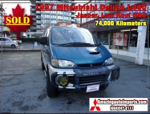 1997 Mitsubishi Delica L400 Low Roof, Jasper Winter Package with Double Battery RHD 74,000 km