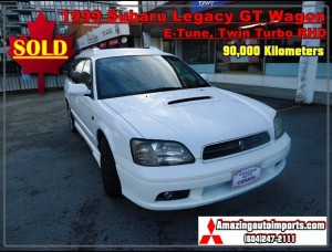 1999 Subaru Legacy GT Wagon E-Tune Twin Turbo RHD 90,000 km