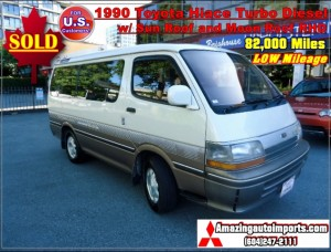 1990 Toyota Hiace Turbo Diesel 2WD w/ Sunroof and Moon Roof RHD 82,000 Miles
