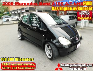 2000 Mercedes Benz A190 A/T Gas Engine FWD LHD with Sunroof 100,000 km
