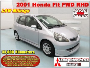 2001 Honda Fit FWD RHD LOW Mileage 33,000 km