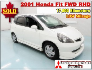 2001 Honda Fit FWD RHD LOW Mileage 17,000 km
